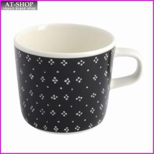 マリメッコ marimekko 067510 910 black/white MUIJA GLOGG CUP 200ml グロッギカップ コーヒーカップ|at-shop