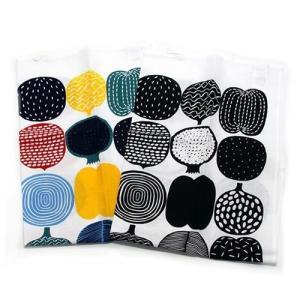 マリメッコ  KOMPOTTI TEA TOWEL 47X70cm 2PCS コンポッティ フルーツモチーフ ティータオル   066954 101 multicolour/black/white|at-shop