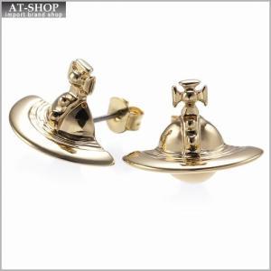 ヴィヴィアンウエストウッド Vivienne Westwood 724499B 2 ピアス SOLID ORB EARRINGS YELLOW GOLD *|at-shop