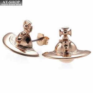 ヴィヴィアンウエストウッド Vivienne Westwood 724499B 3 ピアス SOLID ORB EARRINGS PINK GOLD *|at-shop