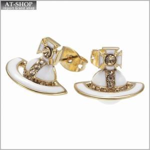 ヴィヴィアンウエストウッド Vivienne Westwood BE1106 1 ピアス IONA BR STUD EARRINGS YELLOW GOLD *|at-shop