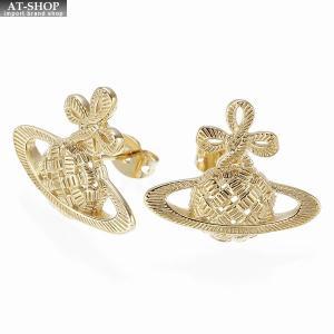 ヴィヴィアンウエストウッド Vivienne Westwood BE1154 2 ピアス SIMONE BAS RELIEF EARRINGS GOLD *|at-shop