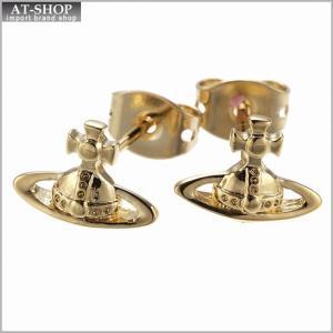 ヴィヴィアンウエストウッド Vivienne Westwood BE1177 2 ピアス LORELEI STUD EARRINGS YELLOW GOLD *|at-shop