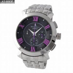 サルバトーレ・マーラ Salvatore Marra SM14107-SSBKPL  メンズ クロノグラフ 腕時計|at-shop