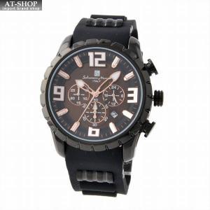 サルバトーレ・マーラ Salvatore Marra SM15107-BKBR  メンズ クロノグラフ 腕時計|at-shop