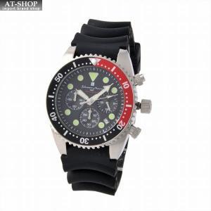 サルバトーレ・マーラ Salvatore Marra SM16104-SSBKRD  メンズ ダイバーズ・クロノグラフ・ウオッチ 腕時計|at-shop