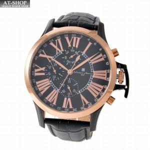サルバトーレ・マーラ Salvatore Marra SM14123-PGBK  メンズ クロノグラフ 腕時計|at-shop
