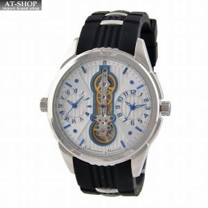 サルバトーレ・マーラ Salvatore Marra SM18113-SSWHBL  メンズ 腕時計 ツインクォーツ|at-shop
