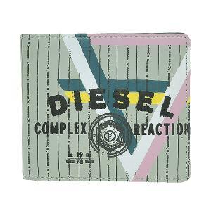 DIESEL ディーゼル 財布サイフ メンズ 二つ折り財布 00XM69-PR003-H2413 グリーン/マルチカラー|at-shop