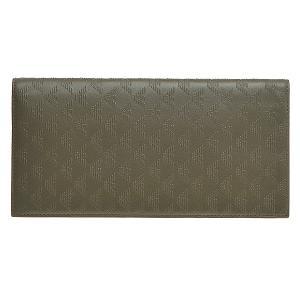 EMPORIO ARMANI アルマーニ 財布 サイフ メンズ 型押しカーフ 二つ折り長財布 YEM474/YC043 カーキ|at-shop