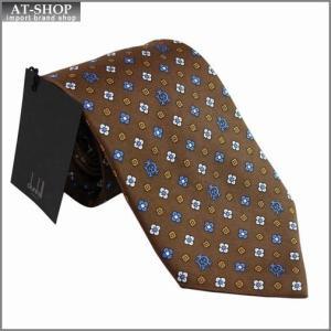 DUNHILL ダンヒル ネクタイ 約8cm ブラウン yptp1 ph1900r|at-shop