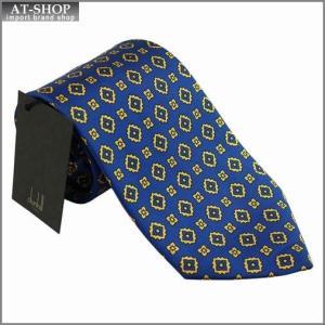 DUNHILL ダンヒル ネクタイ 約8cm ブルー×イエロー yptp1 pm160|at-shop
