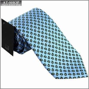 DUNHILL ダンヒル ネクタイ 約8cm ブルー yptp1 px2500r|at-shop