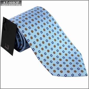 DUNHILL ダンヒル ネクタイ 約8cm 小紋柄 ブルー yptp1 yq2500r|at-shop