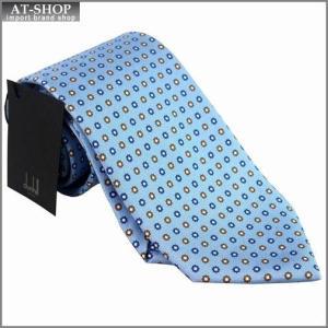 DUNHILL ダンヒル ネクタイ 約8cm 小紋柄 ブルー yptp1 yr2500r|at-shop