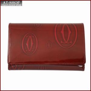 Cartier カルティエ 財布サイフ ハッピーバースデー 二つ折り財布 L3000347 バーガンディレッド|at-shop