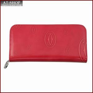 Cartier カルティエ 財布サイフ ハッピーバースデー ラウンドファスナー長財布 L3001253 ピンク|at-shop