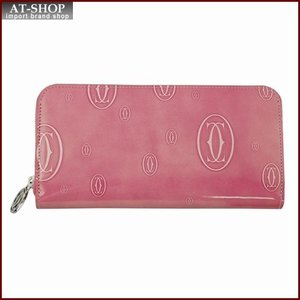 Cartier カルティエ 財布サイフ ハッピーバースデー ラウンドファスナー長財布 L3001255 ピンク|at-shop