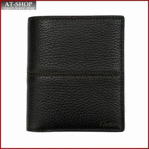Cartier カルティエ 財布サイフ SLG サドルステッチ 二つ折り財布 L3001263 ブラウン|at-shop