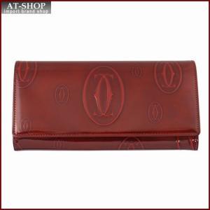 Cartier カルティエ 財布サイフ ハッピーバースデー 二つ折り長財布 L3001281 バーガンディレッド|at-shop
