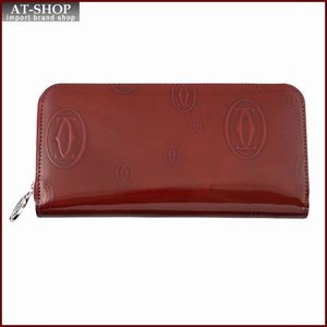 Cartier カルティエ 財布サイフ ハッピーバースデー ラウンドファスナー長財布 L3001283 バーガンディレッド|at-shop