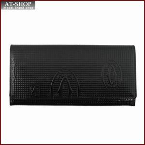 Cartier カルティエ 財布サイフ ハッピーバースデー 二つ折り長財布 L3001284 ブラック|at-shop