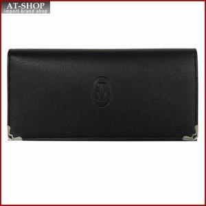 Cartier カルティエ 財布サイフ Must マストライン 二つ折り長財布 L3001363 ブラック|at-shop