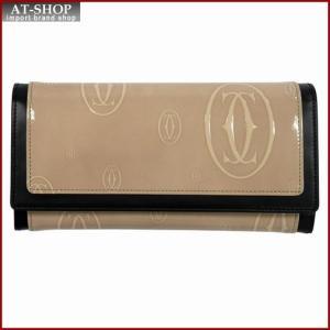 Cartier カルティエ 財布サイフ ハッピーバースデー 二つ折り長財布 L3001389 ベージュ|at-shop