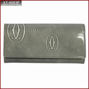 Cartier カルティエ 財布サイフ ハッピーバースデー 二つ折り長財布 L3001390 ライトグレー|at-shop