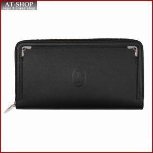 Cartier カルティエ 財布サイフ マストライン ラウンドファスナー長財布 L3001489 ブラック|at-shop