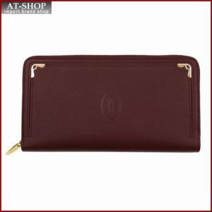 Cartier カルティエ 財布サイフ マストライン ラウンドファスナー長財布 L3001490 バーガンディレッド|at-shop