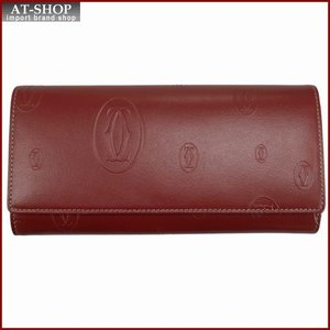 Cartier カルティエ 財布サイフ ハッピーバースデー 二つ折り長財布 L3001495 レッド|at-shop