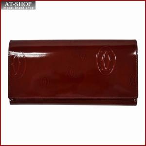 Cartier カルティエ 財布サイフ ハッピーバースデー Wホック 二つ折り長財布 L3001515 バーガンディレッド|at-shop