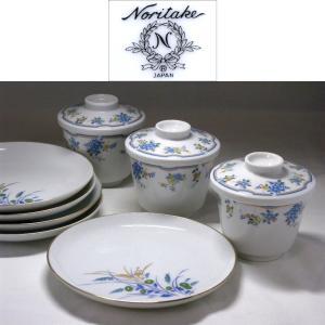 ● 繊細なタッチの花柄と金彩の縁取りが美しいレトロな食器です。 ● 茶碗蒸しに最適な容器3客と、どの...