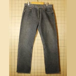 USA製 古着 Levis リーバイス 501 ブラック ジーンズ デニム パンツ W33 010219aw5|ataco-garage