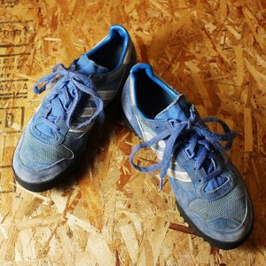 80s アディダス adidas MARATHON TR LOW スニーカー ブルー 古着 26cm-26.5cm マラソントレーナー|ataco-garage