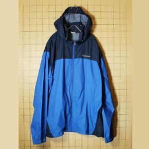 Columbia コロンビア ナイロン ジャケット ブルー ブラック メンズXL 古着 マウンテンパーカー OMNI-SHIELD|ataco-garage