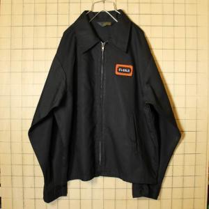 USA製 K-BRAND 古着 ジャケット ブルゾン メンズL ブラック O's GOLD ワッペン ジャンパー スイングトップ 黒|ataco-garage