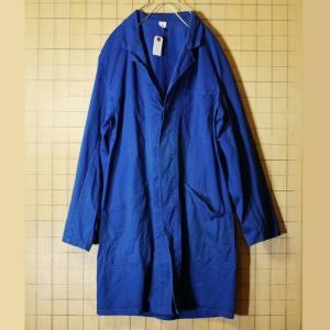 ドイツ フランス ワーク コート ブルー メンズL相当 ショップ ジャケット ヨーロッパ古着 022620ss2|ataco-garage