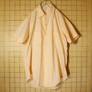 USA製 60s-70s Dutchmaid 半袖 シャツ ベージュ ライトフランネル メンズM ビンテージ 古着|ataco-garage