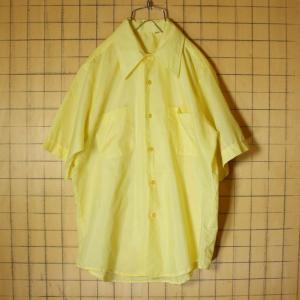 USA製 60s 半袖 シャツ イエロー ライトフランネル メンズM ビンテージ 古着 042419ss102|ataco-garage