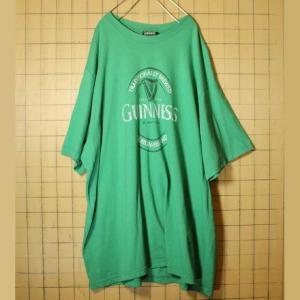 ビッグシルエット GUINNESS ギネスビール プリント 半袖 Tシャツ グリーン メンズ2XL相当 ビッグサイズ 古着|ataco-garage