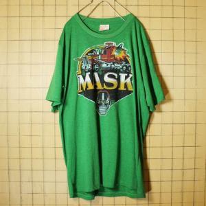MASK プリント 半袖 Tシャツ グリーン メンズL 古着 Phoenix|ataco-garage