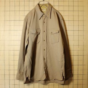 30s-40s JACKSON RAYMOND ギャバジン ウェスタンシャツ メンズM相当 ベージュ ビンテージ 古着 ウール ジャクソンレイモンド|ataco-garage
