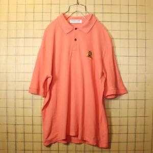 イングランド製 バーバリー BURBERRY ワンポイント 半袖 ポロシャツ ピンクオレンジ メンズ...