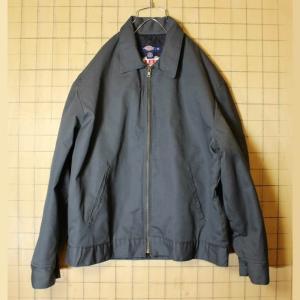 BELL HELMETS Dickies ディッキーズ ワークジャケット 中綿 ジップアップ メンズL グレー 刺繍 古着|ataco-garage
