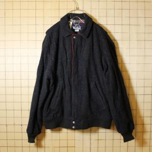 USA製 80s 古着 Woolrich ウールジャケット メンズM ダークグレー ウールリッチ チェック柄|ataco-garage