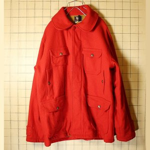 USA製 50s ビンテージ 古着 Woolrich ウールリッチ  ウール ジャケット レッド メンズXL相当 ハンティング|ataco-garage