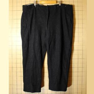60s-70s USA製 ウール ハンティング ワイド パンツ ブラック W45相当 ビッグサイズ TALON|ataco-garage