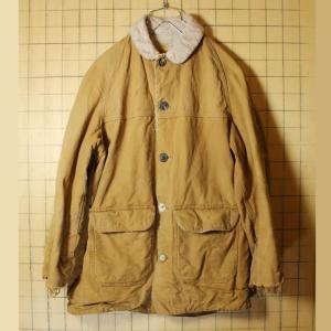 60s-70s USA製 Carhartt カーハート 古着 ブラウン ダックジャケット 裏ボア メンズL相当 カバーオール ダメージ|ataco-garage